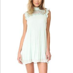 BB Dakota RSVP Eggshell Blue Pleated Dress